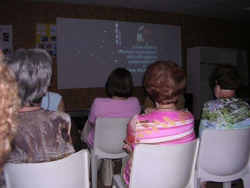 Projection de film en audiodescription
